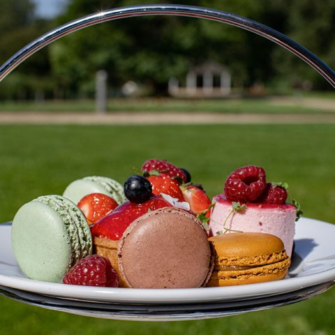 Enjoy an afternoon tea in the sunshine at voco